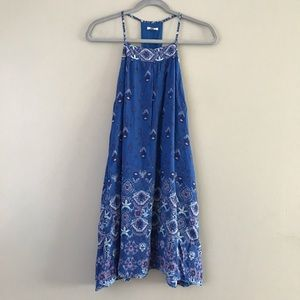 Anthro Ecote abstract floral racerback apron dress